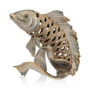 Jay Strongwater-Asagi Koi Fish Figurine