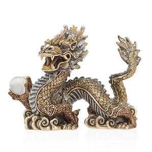 Jay Strongwater-Apalala Imperial Dragon Figurine