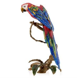 Jay Strongwater-Skylar Macaw Figurine