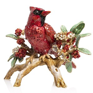 Jay Strongwater-Cardinal on Branch Figurine