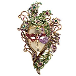 Jay Strongwater-Venetian Mask with Stand