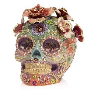 Jay Strongwater-Catrina - Skull with Roses
