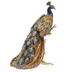 Jay Strongwater-Peabody - Grand Peacock On Branch