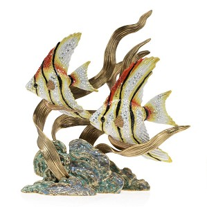 Jay Strongwater-Simone & Jacques - Swimming Angel Fish