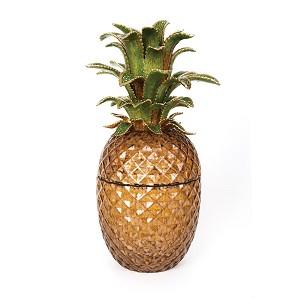 Jay Strongwater-Winston Pineapple Jeweled Glass Jar