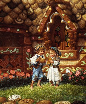 Scott Gustafson-Hansel And Gretel Limited Edition Print