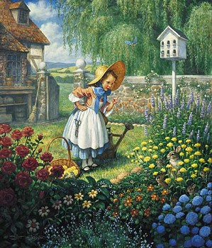 Scott Gustafson-Mary Mary Quite Contrary Limited Edition Print