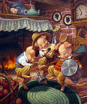 Scott Gustafson-Three Little Pigs Limited Edition Print