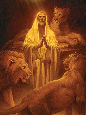 Scott Gustafson-Daniel In The Lion´s Den Limited Edition Print