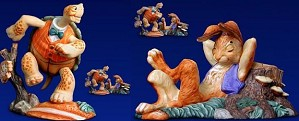 Scott Gustafson-The Tortoise and The Hare Porcelain Figurine