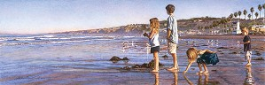 Steve Hanks-Children on La Jolla Shores