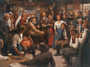 Andy Thomas-Tales of the Old West Giclee on Canvas Signed