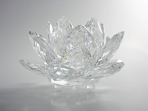Swarovski Crystal-Swarovski Waterlily Candleholder Medium