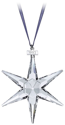 Swarovski-1993 Swarovski Star Ornament (missing Triangle Card)