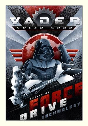Mike Kungl-Vader Speed Shop From Lucas Films Star Wars