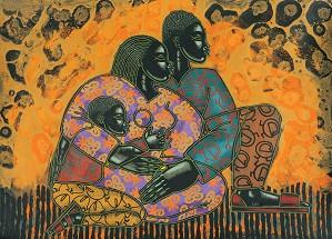 Larry Poncho Brown-Sankofa Spirit Offset Litho Artist Proof 100