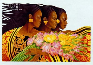 Keith Mallett-Three Sisters Artist Proof