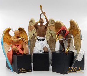 Thomas Blackshear-Warring Angels Set Includes Signed AP Angel At Rest