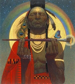 Thomas Blackshear-Indian Paint Brush Giclee On Canvas