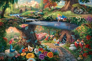 Thomas Kinkade Disney-Alice in Wonderland