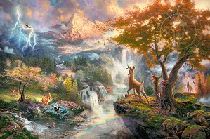 Thomas Kinkade Disney-Bambi's First Year