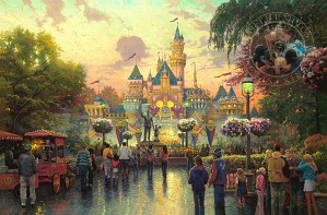 Thomas Kinkade Disney-Disneyland 50th Anniversary