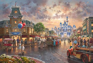 Thomas Kinkade Disney-Disneyland 60th Anniversary