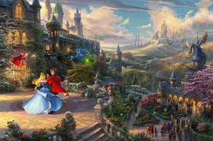 Thomas Kinkade Disney-Sleeping Beauty Dancing In The Enchanted Light