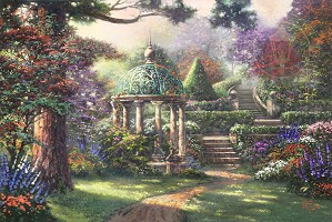 Thomas Kinkade-Gazebo of Prayer