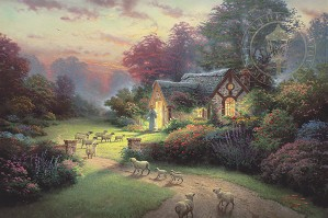 Thomas Kinkade-The Good Shepher's Cottage