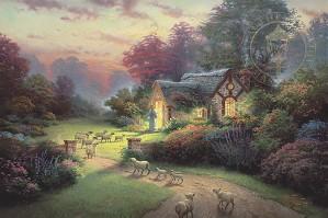 Thomas Kinkade-The Good Shepher's Cottage