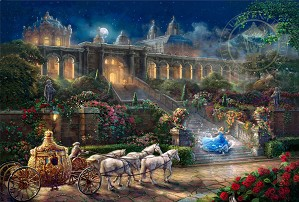 Thomas Kinkade Disney-Clock Strikes Midnight