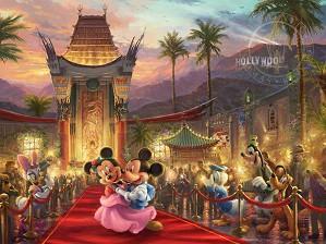 Thomas Kinkade Disney-Mickey & Minnie in Hollywood