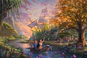 Thomas Kinkade Disney-Pocahontas Colors Of Love