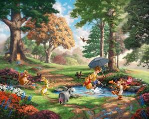 Thomas Kinkade Disney-Winnie The Pooh I