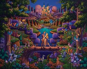 Thomas Kinkade Disney-Sleeping Beauty - The Power of Love