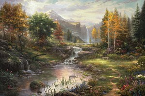 Thomas Kinkade-Reflections of Family