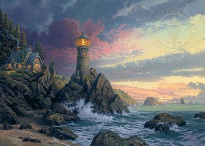 Thomas Kinkade-Rock of Salvation