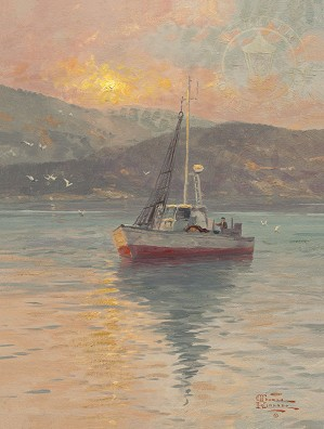 Thomas Kinkade-Sunrise, Sea of Galilee