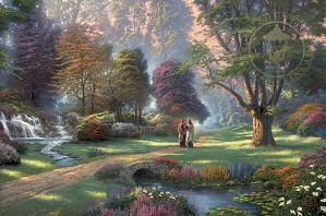 Thomas Kinkade-Walk of Faith