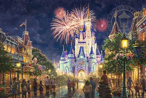 Thomas Kinkade Disney-Main Street, U.S.A. Walt Disney World Resort