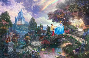 Thomas Kinkade Disney-Cinderella Wishes Upon a Dream