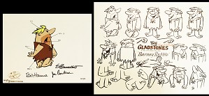 Hanna & Barbera-Barney Model Sheet & Color Model Cel