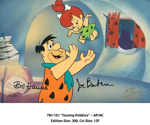 Hanna & Barbera-Tossing Pebbles From The Flinstones