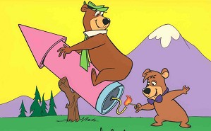 Hanna & Barbera-Yogi on a Rocket From Yogi Bear