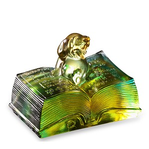 Liuli Crystal-Zodiac Dog, Knowledge Comes with Opening a Book - Reading
