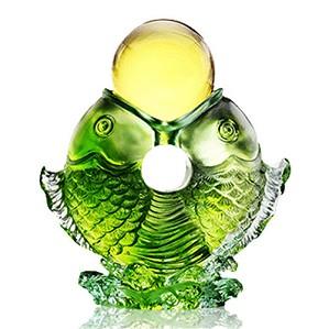 Liuli Crystal-Fortune (Twin Fish Turning of Ruyi)