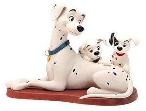 WDCC Disney Classics-One Hundred and One Dalmatians Perdita W/patch & Puppy Patient Perdita