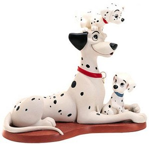 WDCC Disney Classics-One Hundred and One Dalmatians Proud Pongo W/pepper & Penny