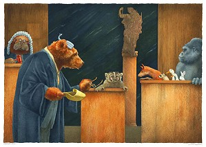 Will Bullas-Badgering The Witness... Limited Edition Canvas